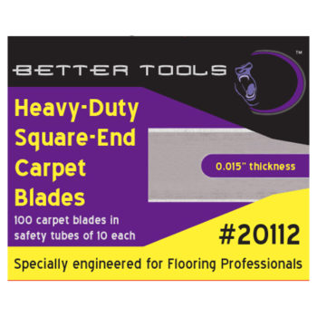 Heavy Duty Square End Carpet Blades