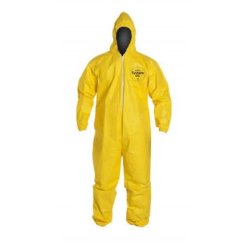 DuPont QC127 Tychem QC Coverall, Attached Hood, Elastic Wrists and Ankles