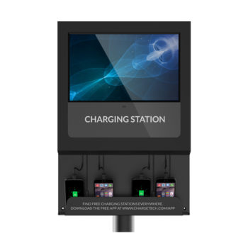 Chargetech Digital Signage Charging Station