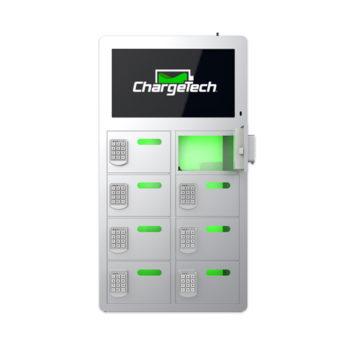 8 Bay Top Video Charging Locker Silver
