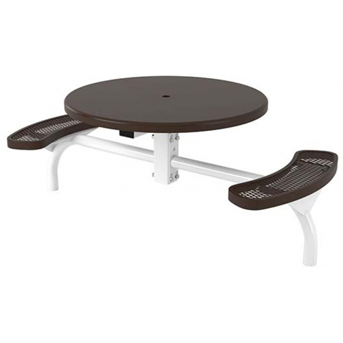 46 in. Round Solid Top Web In-ground Table