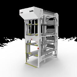 Vidir 5 Bed R Series Bedlift Hospital Storage System