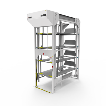 Vidir 5 Bed R Series Bedlift Hospital Storage System