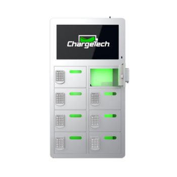 8 Bay Top Video Charging Locker Silver