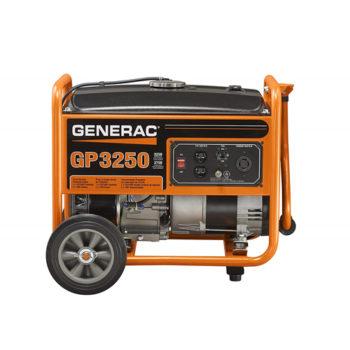 Generac 5982 GP3250 3250 Running Watts/3750 Starting Watts Gas Powered Portable Generator